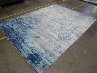 8  x 10  Blue Faded Area Rug