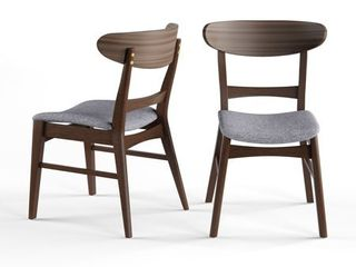 Carson Carrington Ballerup Mid century Fabric Dining Chair  Set of 2  Retail 144 49