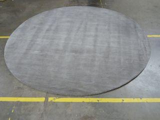 8  x 8  Grey Circle Area Rug