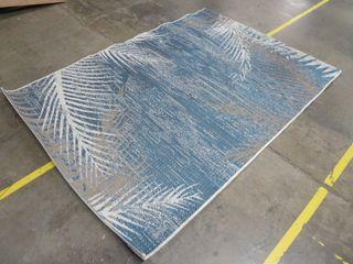 5 3  x 7 6  Blue Style Area Rug