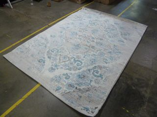 6 5  X 9  Blue Distressed Pattern Area Rug