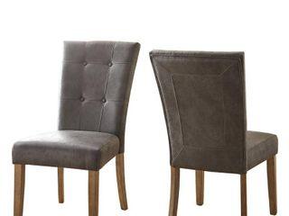Debbie Grey Side Chair  set of 2