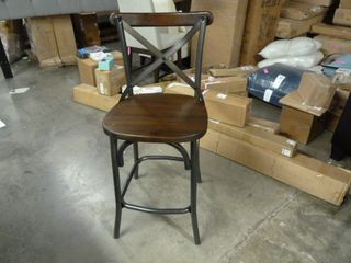 Single Wood Bar Stool