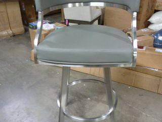 Single Grey Round Back Bar Stool