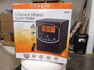 4 Element Infrared Quartz Heater