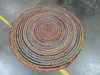 4  x 4  Colorful Circle Area Rug