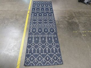 2 7  x 7 3  Blue Pattern Area Rug