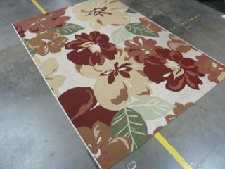 5 3  x 7 6  Floral Area Rug