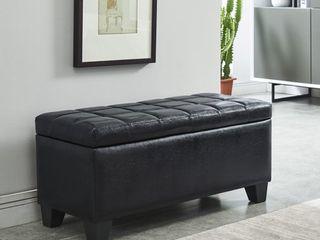 Winston Faux leather Storage Ottoman Retail 109 99