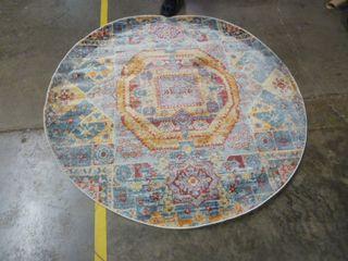 5  x 5  Colorful Circle Area Rug