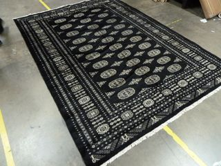 6 9  x 9 6  Fancy Black Area Rug