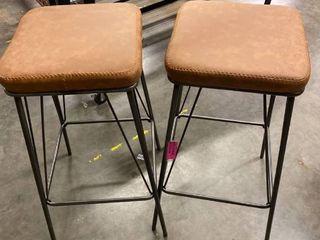 Sand  Strick   Bolton Eliane 30 inch Barstool with Gunmetal Base  Set of 2  Retail 134 99