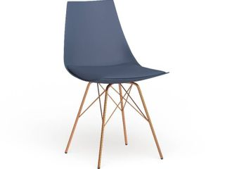 Carson Carrington Huskvarna Faux leather Mid century Bucket Chair with Gold Chrome Base Retail 109 49