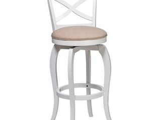 The Gray Barn Chatterly White and Natural Swivel Stool Retail 160 00