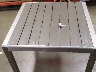 ONlY TABlE  Cape Coral Outdoor Modern Aluminum Dining Table