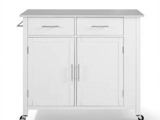 White   Kitchen Cart   Stainless Steel  Retail 388 49