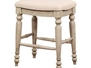 Single Copper Grove Barmstedt Brown Counter Stool with Beige Saddle Seating Retail 105 99