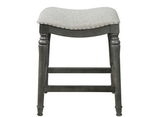 Single Copper Grove Barmstedt Grey Counter Stool with Saddle Seat Retail 101 99