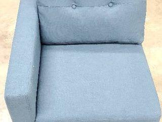 Blue Corner Chair Sectional Sofa Piece
