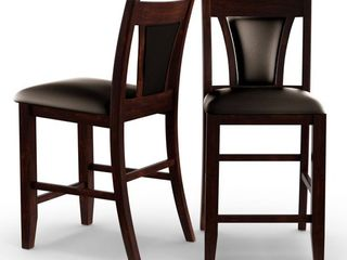 Furniture of America Dionne Cherry Counter Height Stool  Set of 2    Espresso