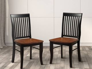 Furniture of America Nora Traditional Oak Dining Chairs  Set of 2