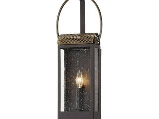 Holmes Bronze and Brass Wall Sconce with Clear Seeded Glass Retail 258 00