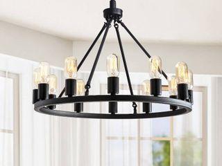 Viviana Black 12 light Metal Round Chandelier Retail 107 99