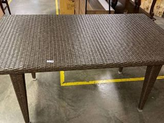 Dominica Outdoor Rectangle Wicker Dining Table