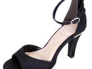 FlORAl Maxine Women Wide Width D Orsay Ankle Strap Heeled Dress Sandal  Size 7