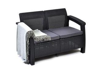 Corfu Outdoor love Seat with Cushions