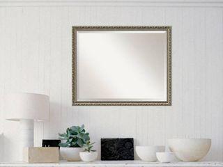 Wall Mirror large  Parisian Silver 31 x 25 inch  Retail 129 00