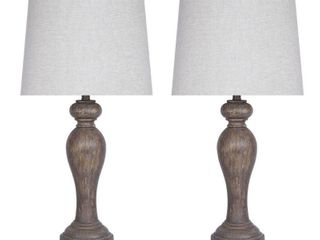 32 inch Opal Grey Poly Table lamp Set of 2  Retail 129 97
