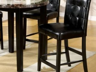 Furniture of America Queh Modern Black Counter Height Chairs  Set of 2  Retail 202 10