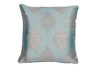 KAS Blue Grey Elegance Decorative Throw Pillow