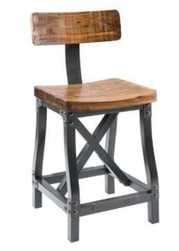 INK IVY lancaster Amber Counter Stool With Back   Retail 424 98