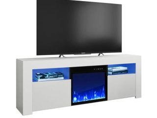 Copper Grove Qorasuv 58 inch Electric Fireplace TV Console  Fully Assembled  Retail 532 49