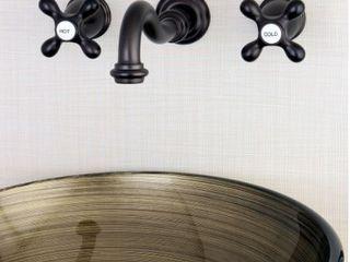 Vintage 2 Handle Wall Mount Bathroom Faucet  Retail 212 99