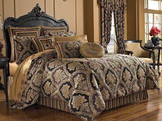 Five Queens Court Reilly Queen Comforter Set Bedding Retail 350 98