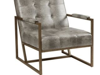 INK   IVY Faux leather Metal Frame lounge Chair Retail 375 49