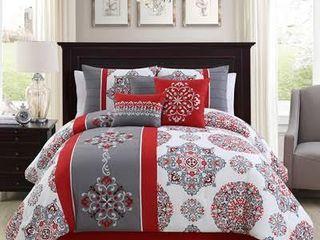 Precious Embroidery 7 piece Twin Comforter Set