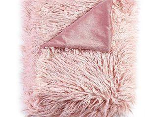 Mongolian Textured Faux Fur Throw   50 x 60