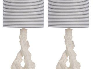 lana Driftwood Resin Table lamp   Set of 2  Retail 77 48