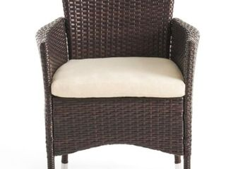 Tustin Outdoor Acacia Wicker Dining Chairs by Christopher Knight Home  2 Chairs