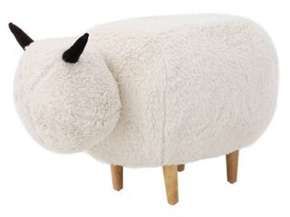 Pearcy Faux Fur Sheep Ottoman by Christopher Knight Home  Retail 88 49