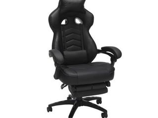 RESPAWN 110 Racing Style Gaming Chair  Reclining Ergonomic leather Chair with Footrest  in Black Retail 186 99