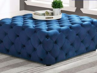 Best Master Furniture Square Ottoman With Footpads