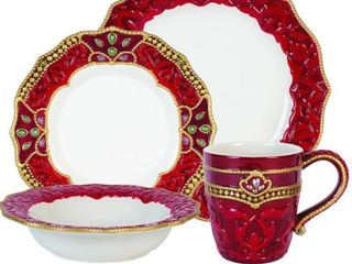Fitz and Floyd Renissance 4PC Place Setting  Set of 2 8PC Total
