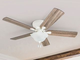 Incomplete The Gray Barn Marlborough 52 inch Coastal Indoor lED Ceiling Fan with Pull Chains 5 Reversible Blades light Kit Only  Retail 159 49