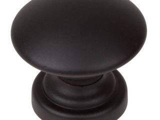 GlideRite 1 inch Matte Black Round Convex Cabinet Knobs  Pack of 10