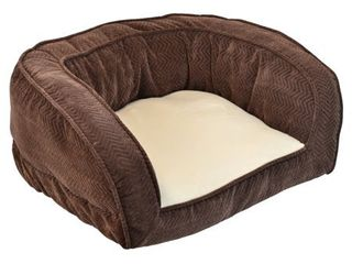SnooZZy Chocolate Gusset Couch Pet Bed  Retail 138 52